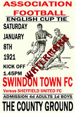 SWINDON TOWN - VINTAGE 1920's STYLE MATCH POSTER