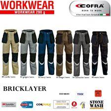Pantalone da lavoro COFRA BRICKLAYER multitasche invernali Extra resistenti +