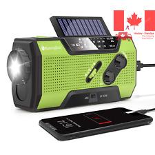 Solar Crank NOAA Weather Radio for Emergency with AM FM Flashlight Reading La...