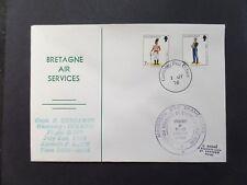 Bretagne Air Services Guernsey -Dinard First Flight 1/7/76