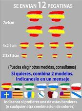 (bt1) 12 x bandera España Spain Pegatina Adhesivo Vinilo Coche Moto Casco BTT