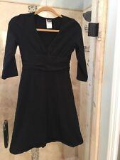 Patagonia Dress Organic Cotton V Neck 3/4 Sleeve Black Womens Sz Small