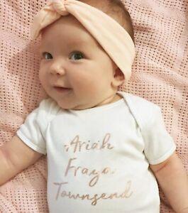 PERSONALISED unisex baby clothing vest babygrow baby shower gift Auntie rosegold