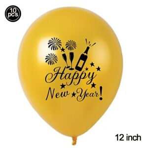 Gold Black Happy New Year Foil Balloon Christmas Eve Party Decoration Inflatable