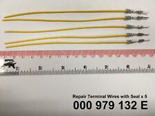 Audi VW Skoda Seat Porsche 5 x Wiring Terminal Repair Wire & Seal 000979132E