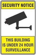 Security Notice CCTV 24 Hour Surveillance Camera Rigid Plastic Sign 200mmx300mm