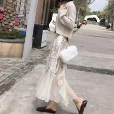 081 Korean Women's Fashion Chiffon Velvet Long Skirt