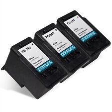 3 Pack Canon PG-240 CL-241 Ink Cartridges PIXMA MG3122 MG4120 MX432 MX472