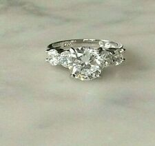 Ring  Size L  Sterling Silver  QVC Diamonique Cubic Zirconias 103934V