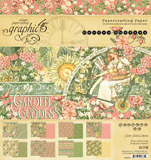 Graphic45 GARDEN GODDESS 8x8 PAPER PAD scrapbooking (24) SHEETS (8) DESIGNS