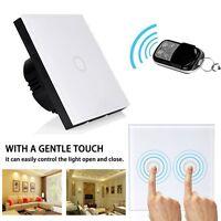 Smart 1 Gang Touch Wireless Lichtschalter Schalter Kristall Glas Light Switch EU