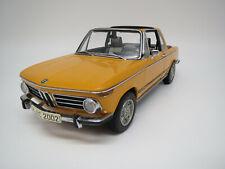 """AutoArt  BMW  2002  """"Baur Cabriolet""""  (orange) 1:18  Ohne Verpackung !!"""