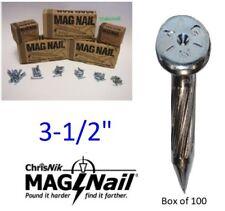 """ChrisNik MagNails 243500 Survey Mag Nails, 3-1/2"""" x 1/4"""" ~100 per box"""