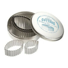 """Ateco Fluted Football Cutters, S/S, 5 Pc. Set in Sizes 1-15/16"""" 4-3/8"""""""