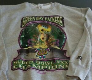 GREEN BAY PACKERS Super Bowl XXXI Vintage STARTER XL Sweatshirt 1997 New NFL
