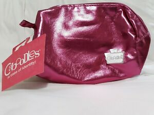 NWT Caboodles Pixie Perfect Pink Metallic Zippered Cosmetic Bag Makeup Travel ba