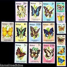 Kenya 1988 MNH 16v, Butterflies, Insects  - Bu