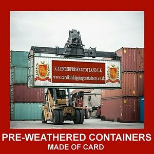N Gauge Model Containers Pre-Weath Model Shipping Containers 48ft Set x 3,6,12
