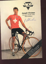 JOSEPH CHRISTEN cp SIGNED cyclisme ciclismo SWISS rider Cycling tour suisse