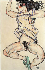 Egon Schiele Reproductions: Reclining Woman with Green Slippers - Fine Art Print
