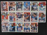 1989 Topps Buffalo Bills Team Set of 17 Football Cards