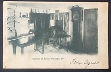 POSTCARD Interior of Burns's Cottage AYR Scotland Undivided Back 826