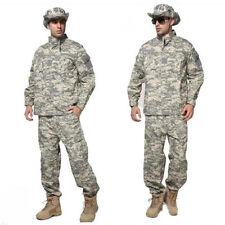 2018Men Tactical Army Military Combat Camo Camouflage Jacket+Trousers Uniform Se