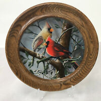 Cardinal Collector Plate First Issue Framed Birds of your Garden Vintage 1985