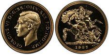 GREAT BRITAIN George VI 1937 AV Sovereign. PCGS PR64. SCBC-4076; Fr.-411