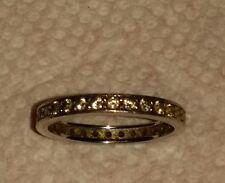 Sterling silver eternity cz ring
