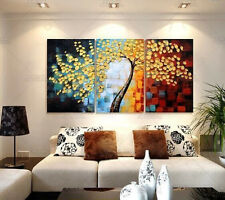 3pc Modern Abstract Huge Wall Decorate Canvas Art Oil Painting:Tree(No Frame)