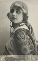 1916 Vintage Photo Postcard Beautiful Woman Vera Holodnaya Russian silent film a