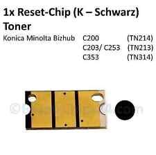 Reset CHIP toner (K-noir) pour Konica Minolta Bizhub c200 c203 c253 c353