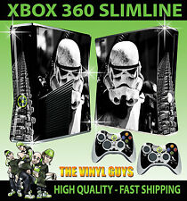 XBOX 360 SLIM STORMTROOPER STAR WARS EMPIRE SOLDIER STICKER SKIN & 2 X PAD SKINS