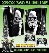 XBOX 360 SLIM STORMTROOPER STAR WARS EMPIRE SOLDIER STICKER SKIN & 2 X PAD SKINS