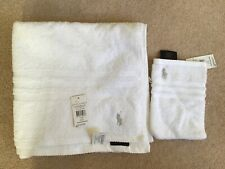 Ralph Lauren White Bath Towel & Wash Mitt  - BNWT