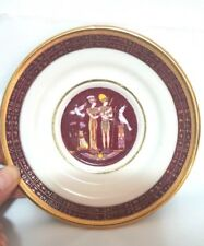 Decorative Plate Made in Egypt by Sheeni Ceramics Zine Porcelain Hieroglyphs