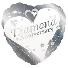 Creative Party 60th Diamond Anniversary Foil Balloon