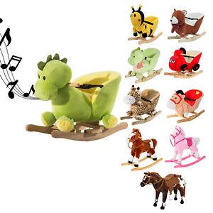 Schaukelpferd Plüsch Schaukeltier Pferd Lieder Spielzeug Kinder Baby Schaukel