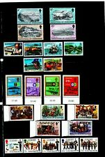 Guernsey. 1982    FIVE great sets of MNH stamps.    Details below