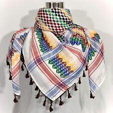 "Hirbawi Scarf Arab Shemagh Original Keffiyeh Rainbow Brand Cotton Unisex 47""x47"""