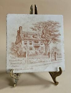 Antique Tile by Mintons of Old Hancock Manor House Boston