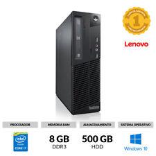ORDENADOR LENOVO M93 SFF CORE I7-4770 3,40 8GB RAM 500GB DVDRW WINDOWS 10