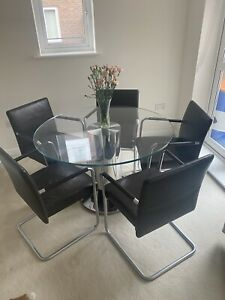 6 Walter Knoll Chairs And Table.