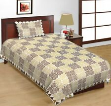 floral checks cotton bad sheet with pillow case Indian mandala bad cover 162x230