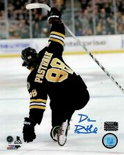 David Pastrnak Boston Bruins Signed Autographed  Ice Swipe Celly 8x10