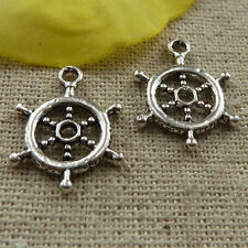 free ship 180 pieces tibetan silver steering wheel charms 20x15mm #4281