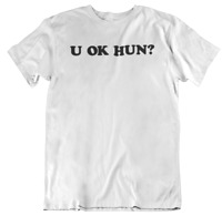 U OK HON ? Girls Womens Ladies T Shirt Top Curve Plus size casual Tee Shirt SHOP