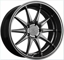 XXR 527D 18x9 5x100 +35 Chromium Black Rims Set of (4) Brand New
