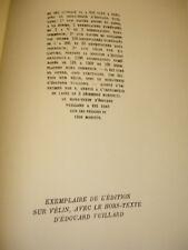LE PRÉLUDE  Paul Géraldy  Hors texte de Edouard Vuillard EO sur Vélin